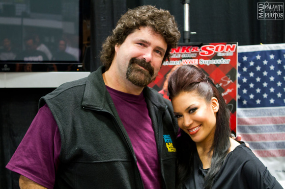 Mick Foley and Melina at Frank & Son